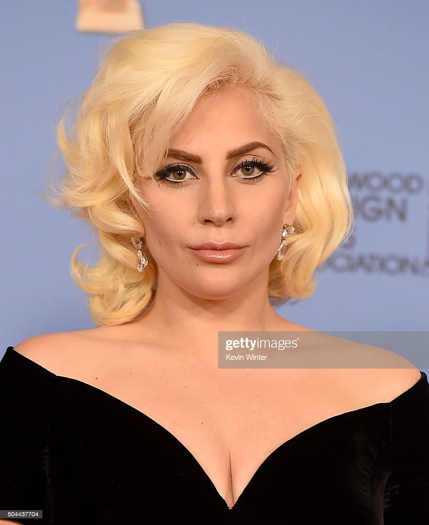 Actress/singer Lady Gaga, winner of Best Performance in a Miniseries or Television Film for 'American Horror Story: Hotel,' poses in the press room during the 73rd Annual Golden Globe Awards held at the Beverly Hilton Hotel on January 10, 2016 in Beverly Hills, California.