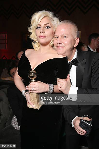 Actress/singer Lady Gaga winner of Best Performance in a Miniseries or Television Film for 'American Horror Story Hotel' and writer/producer Ryan...