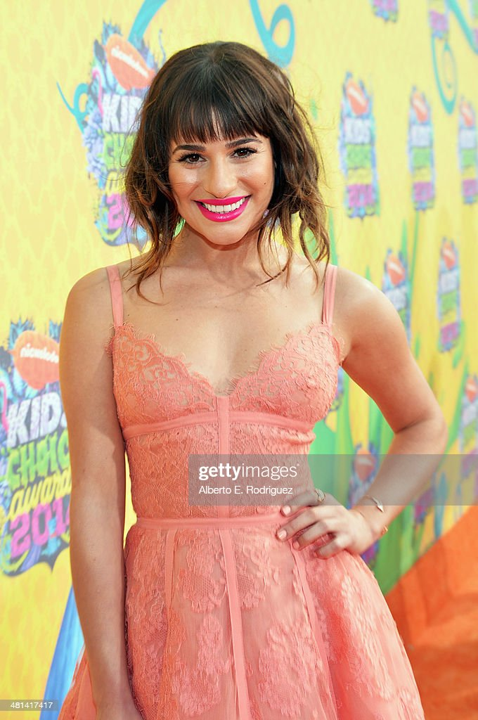 Actress/singer <a gi-track='captionPersonalityLinkClicked' href=/galleries/search?phrase=Lea+Michele&family=editorial&specificpeople=566514 ng-click='$event.stopPropagation()'>Lea Michele</a> attends Nickelodeon's 27th Annual Kids' Choice Awards held at USC Galen Center on March 29, 2014 in Los Angeles, California.