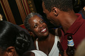 Actress/singer Lillias White greets supporters following her 65th birthday concert celebration at The Triad Theater on July 22 2016 in New York City