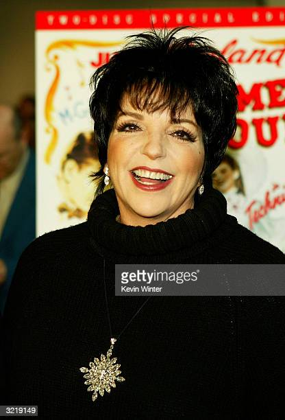 Actress/singer Liza Minnelli appears at Warner Home Video's 60th anniversary DVD release reception and screening of 'Meet Me in St Louis' at the...