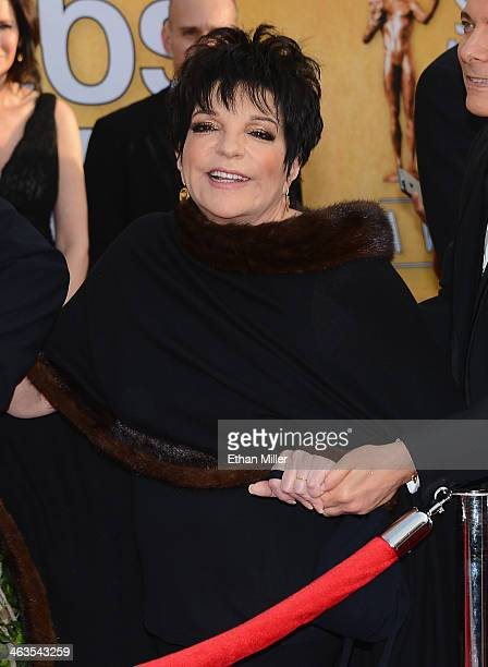 Actresssinger Liza Minnelli attends the 20th Annual Screen Actors Guild Awards at The Shrine Auditorium on January 18 2014 in Los Angeles California
