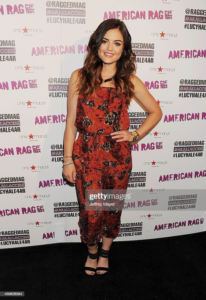 Actress/singer Lucy Hale joins American Rag for All Access Performance at Macy's on June 14 2014 in Sherman Oaks California