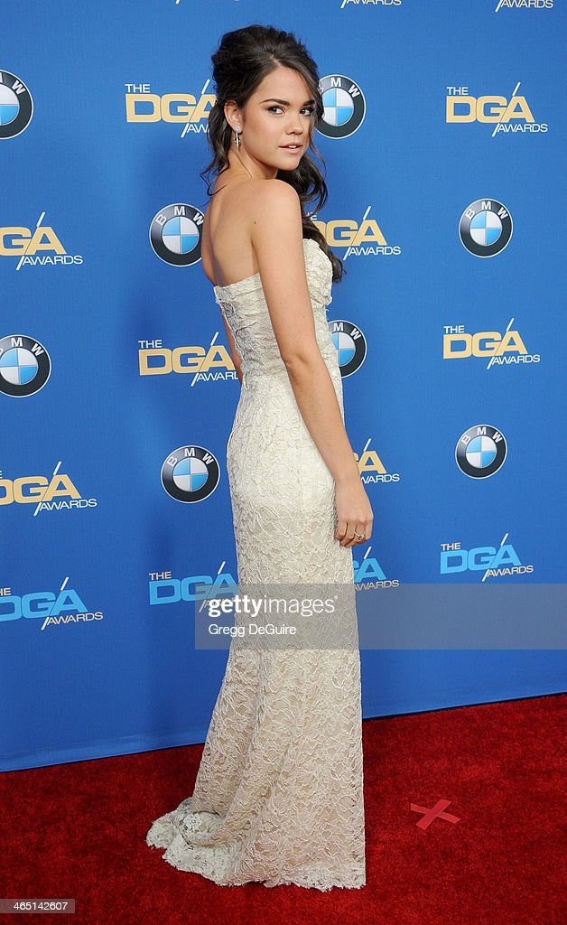 Actress/singer Maia Mitchell arrives at the 66th Annual Directors Guild Of America Awards at the Hyatt Regency Century Plaza on January 25, 2014 in Century City, California.