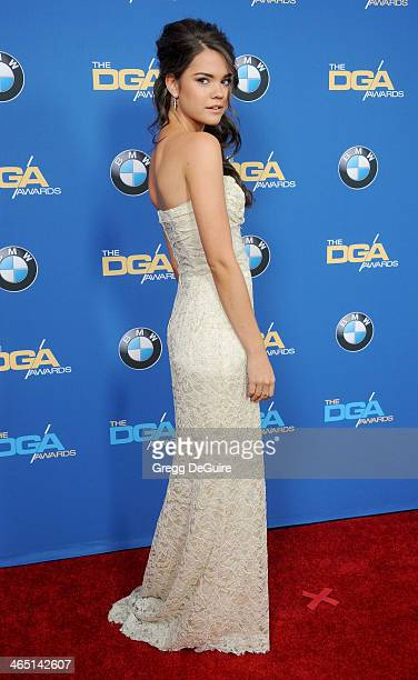 Actress/singer Maia Mitchell arrives at the 66th Annual Directors Guild Of America Awards at the Hyatt Regency Century Plaza on January 25 2014 in...