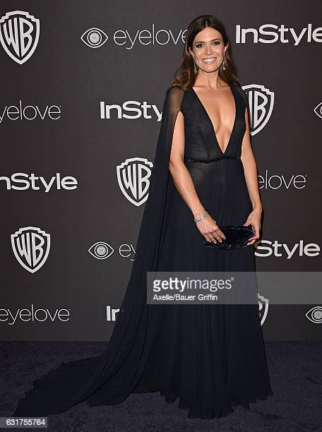 Actress/singer Mandy Moore arrives at the 18th Annual PostGolden Globes Party hosted by Warner Bros Pictures and InStyle at The Beverly Hilton Hotel...