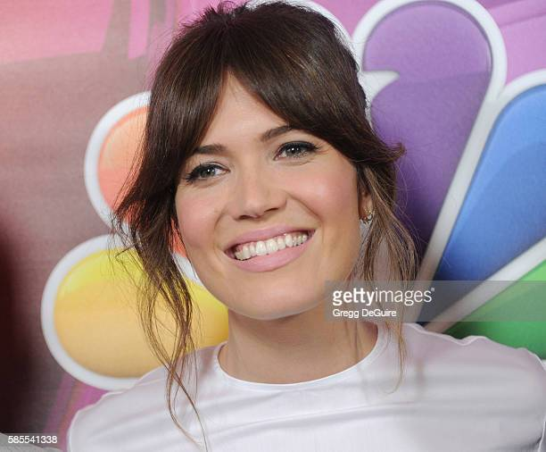 Actress/singer Mandy Moore arrives at the 2016 Summer TCA Tour NBCUniversal Press Tour Day 1 at The Beverly Hilton Hotel on August 2 2016 in Beverly...