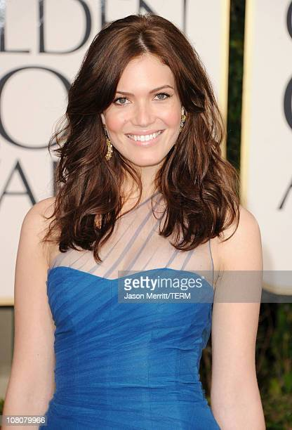 Actress/singer Mandy Moore arrives at the 68th Annual Golden Globe Awards held at The Beverly Hilton hotel on January 16 2011 in Beverly Hills...