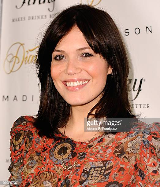 Actress/singer Mandy Moore arrives at the Madison and Diavolina Launch party on October 15 2009 in Los Angeles California
