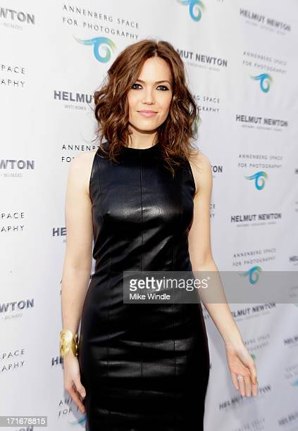 Actress/singer Mandy Moore attends the Helmut Newton opening night exhibit at Annenberg Space For Photography on June 27 2013 in Century City...
