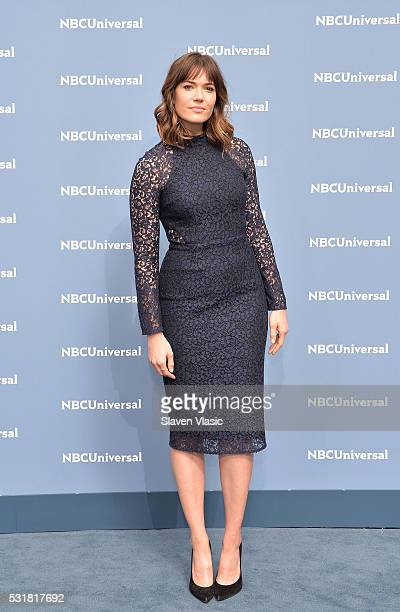 Actress/singer Mandy Moore attends the NBCUniversal 2016 Upfront Presentation on May 16 2016 in New York New York