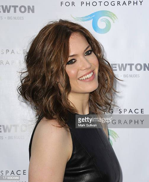 Actress/singer Mandy Moore attends the opening of 'Helmut Newton White Women Sleepless Nights Big Nudes' at at Annenberg Space For Photography on...