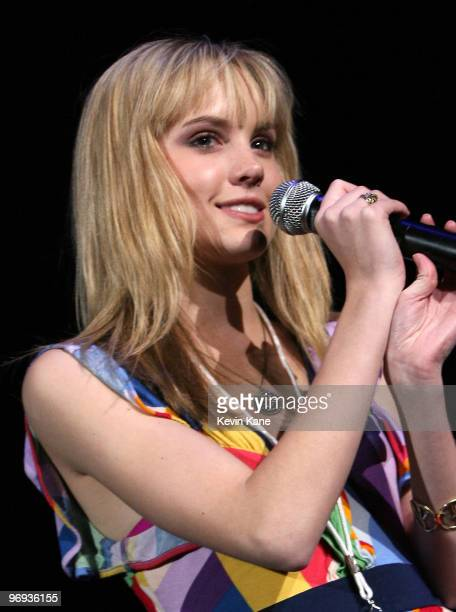 Actress/singer Meaghan Martin attends PopCon 2010 at Nassau Veterans Memorial Coliseum on February 20 2010 in Uniondale New York