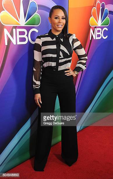 Actress/singer Mel B arrives at the 2016 NBCUniversal Winter TCA Press Tour at Langham Hotel on January 13 2016 in Pasadena California