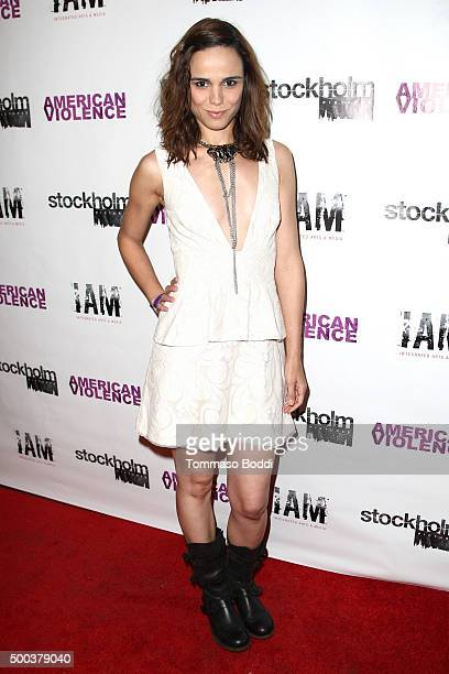 Actress/Singer Melissa Mars attends the premiere of Stockholm Pictures' 'American Violence' held at Harmony Gold on December 7 2015 in Los Angeles...