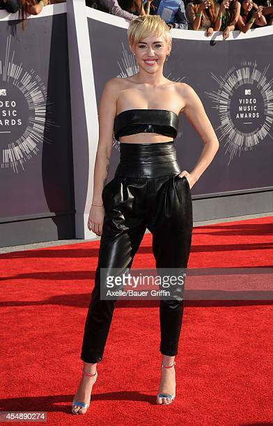 Actress/singer Miley Cyrus arrives at the 2014 MTV Video Music Awards at The Forum on August 24 2014 in Inglewood California