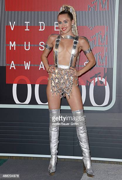 Actress/singer Miley Cyrus arrives at the 2015 MTV Video Music Awards at Microsoft Theater on August 30 2015 in Los Angeles California
