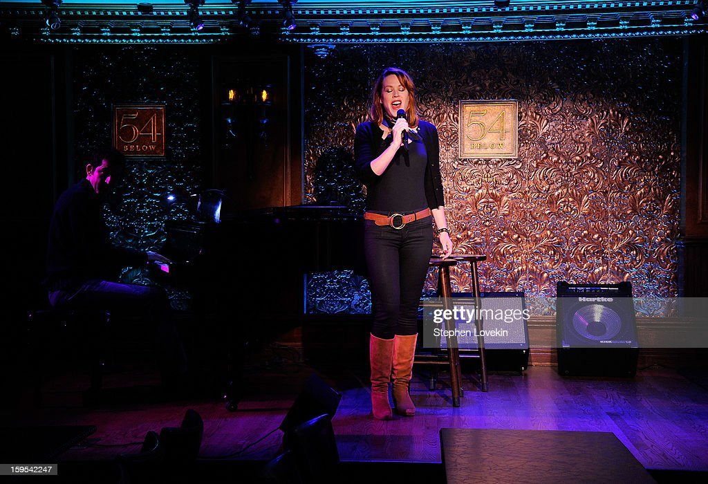 Actress/singer Molly Ringwald performs at a special press preview at 54 Below on January 15, 2013 in New York City.