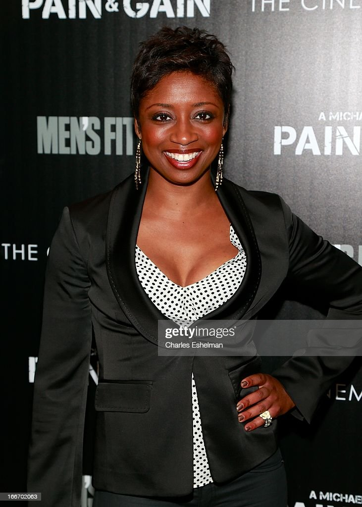 Actress/singer Montego Glover attends The Cinema Society and Men's Fitness screening of 'Pain and Gain' at the Crosby Street Hotel on April 15, 2013 in New York City.