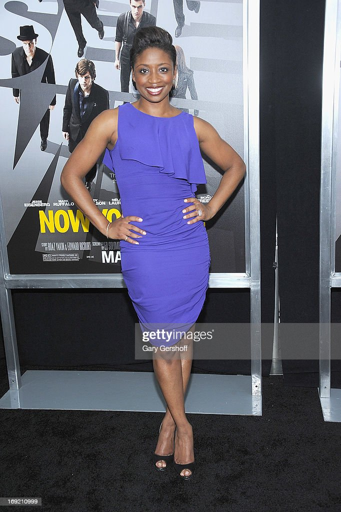 Actress/singer Montego Glover attends the 'Now You See Me' premiere at AMC Lincoln Square Theater on May 21, 2013 in New York City.