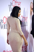 Actress/singer Nicki Minaj arrives at the Los Angeles premiere of 'The Other Woman' at Regency Village Theatre on April 21 2014 in Westwood California