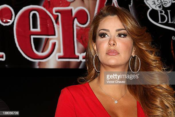 Actress/Singer Ninel Conde attends a press conference to promote the skit 'Aventurera' at Teatro Blanquita on February 1 2012 in Mexico City Mexico