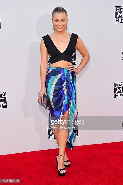 Actress/Singer Olivia Holt arrives at the 2015 American Music Awards at Microsoft Theater on November 22 2015 in Los Angeles California