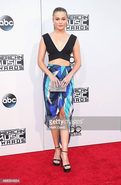 Actress/singer Olivia Holt attends the 2015 American Music Awards at Microsoft Theater on November 22 2015 in Los Angeles California