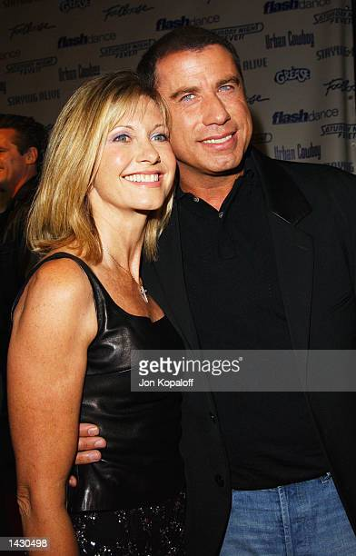 Actress/Singer Olivia NewtonJohn and actor John Travolta from the movie 'Grease' attend the Celebration of Paramount Studio's 90th Anniversary with...