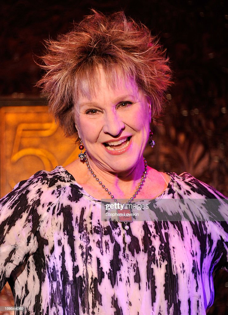 Actress/singer Pamerla Myers attends a special press preview at 54 Below on January 15, 2013 in New York City.