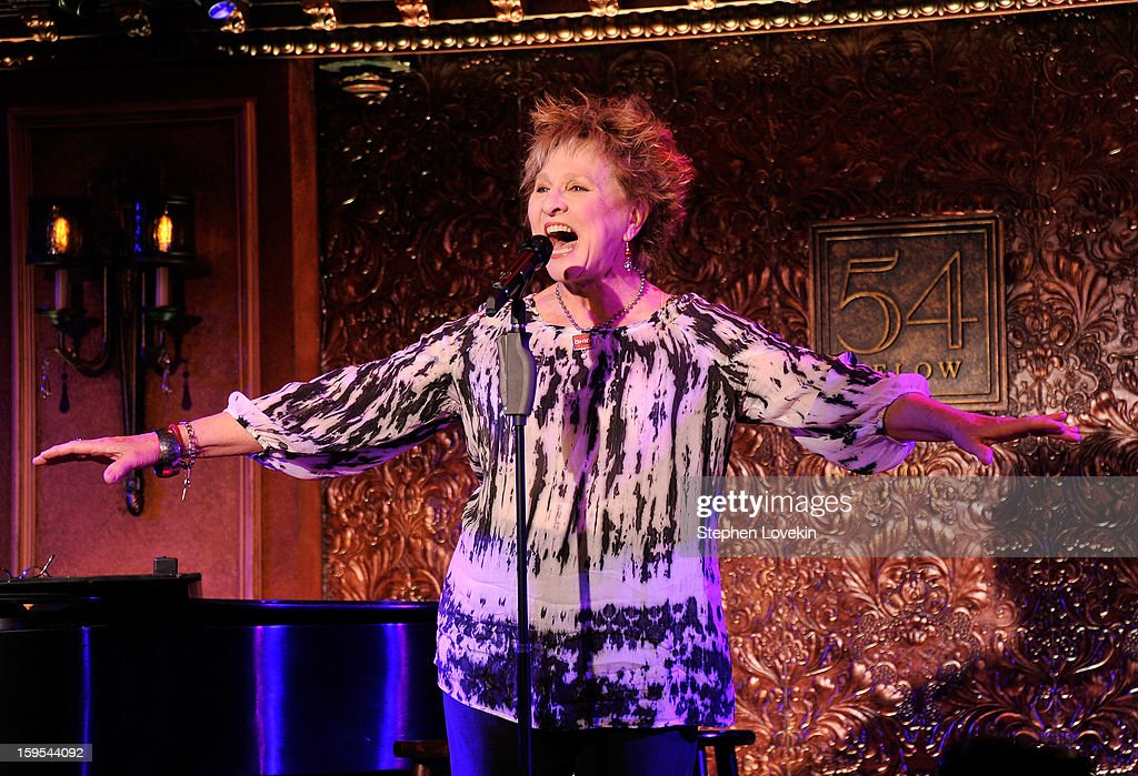 Actress/singer Pamerla Myers performs at a special press preview at 54 Below on January 15, 2013 in New York City.
