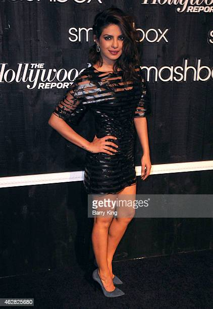 Actress/singer Priyanka Chopra arrives at Smashbox Studios Grand ReOpening Party at Smashbox Studios on February 5 2015 in Culver City California