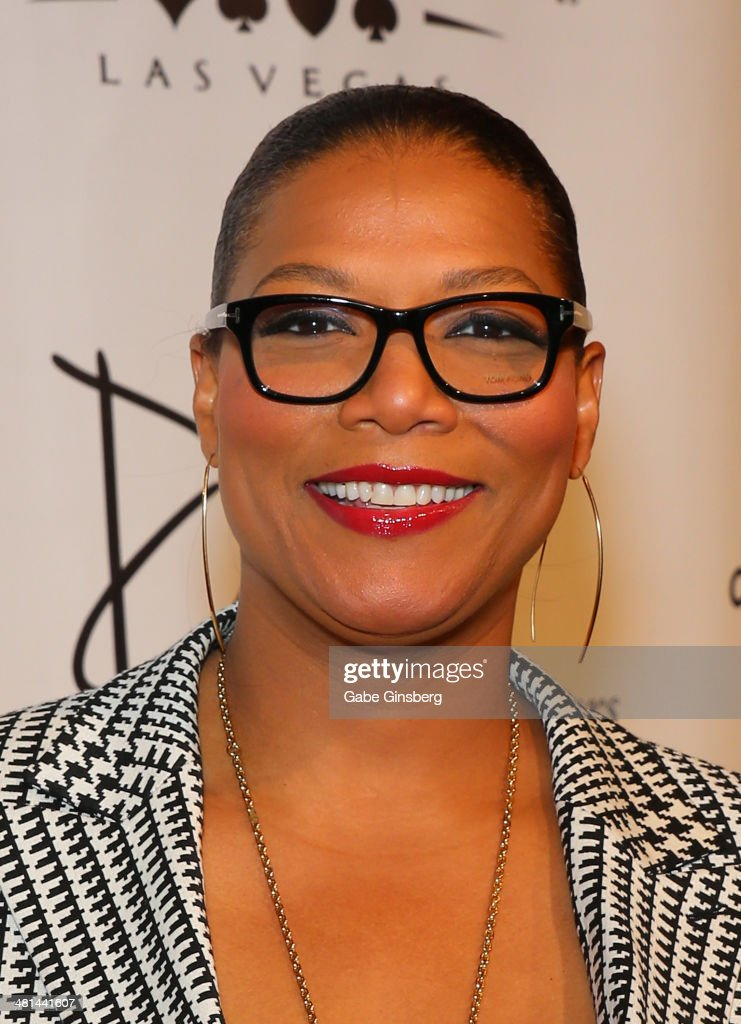 Actress/singer <a gi-track='captionPersonalityLinkClicked' href=/galleries/search?phrase=Queen+Latifah&family=editorial&specificpeople=171793 ng-click='$event.stopPropagation()'>Queen Latifah</a> arrives at the 'Jubilee' show's grand re-opening at Bally's Las Vegas on March 29, 2014 in Las Vegas, Nevada.