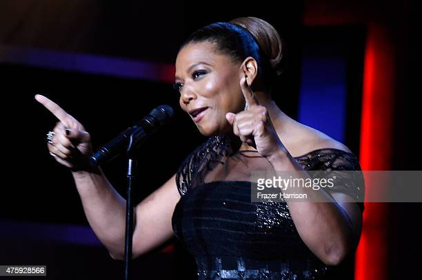 Actress/singer Queen Latifah performs onstage during the 43rd AFI Life Achievement Award Gala honoring Steve Martin at Dolby Theatre on June 4 2015...