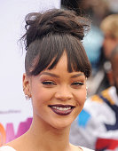 Actress/singer Rihanna arrives at the Los Angeles premiere of 'HOME' at Regency Village Theatre on March 22 2015 in Westwood California