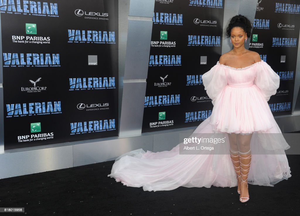 Actress/singer Rihanna arrives for the Premiere Of EuropaCorp And STX Entertainment's 'Valerian And The City Of A Thousand Planets' held at TCL Chinese Theatre on July 17, 2017 in Hollywood, California.