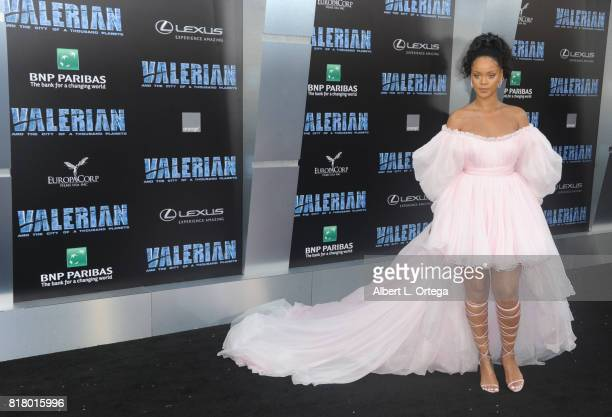 Actress/singer Rihanna arrives for the Premiere Of EuropaCorp And STX Entertainment's 'Valerian And The City Of A Thousand Planets' held at TCL...