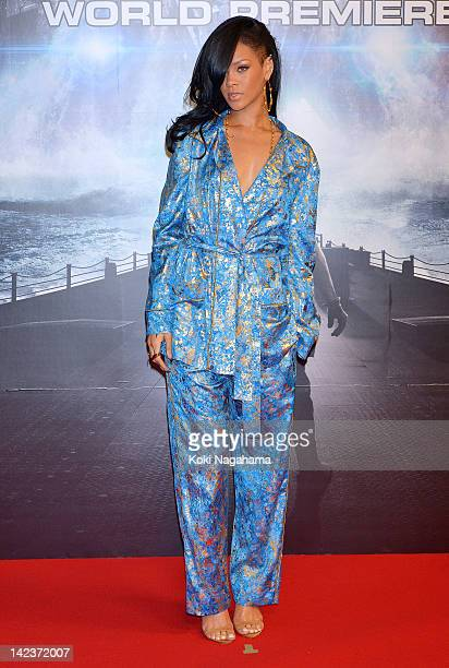 Actress/singer Rihanna attends the 'Battleship' Japan Premiere at International Yoyogi first gymnasium on April 3 2012 in Tokyo Japan