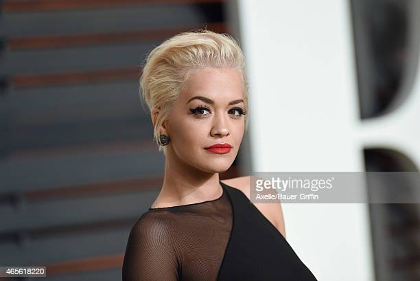 Actress/singer Rita Ora arrives at the 2015 Vanity Fair Oscar Party Hosted By Graydon Carter at Wallis Annenberg Center for the Performing Arts on...