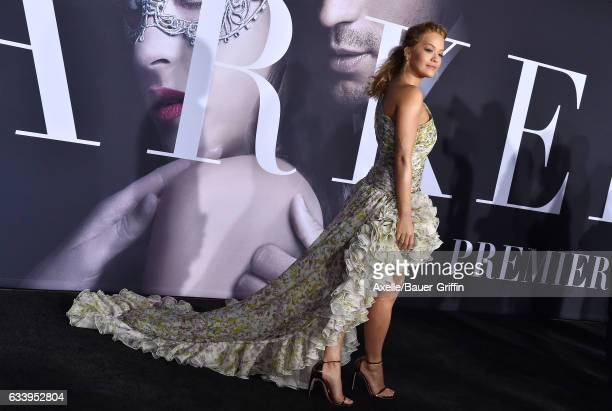 Actress/singer Rita Ora arrives at the premiere of Universal Pictures' 'Fifty Shades Darker' at The Theatre at Ace Hotel on February 2 2017 in Los...