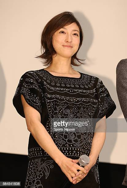 Actress/singer Ryoko Hirosue attends opening day greeting of the 'Omoi Nokoshi' on November 22 2014 in Tokyo Japan
