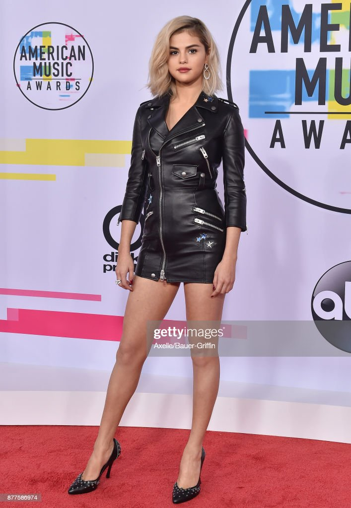 Actress/singer Selena Gomez arrives at the 2017 American Music Awards at Microsoft Theater on November 19, 2017 in Los Angeles, California.