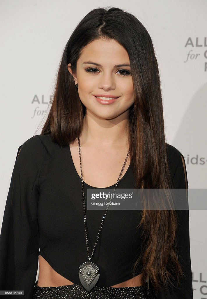 Actress/singer <a gi-track='captionPersonalityLinkClicked' href=/galleries/search?phrase=Selena+Gomez&family=editorial&specificpeople=4295969 ng-click='$event.stopPropagation()'>Selena Gomez</a> arrives at The Alliance for Children's Rights 21st Annual Dinner at The Beverly Hilton Hotel on March 7, 2013 in Beverly Hills, California.