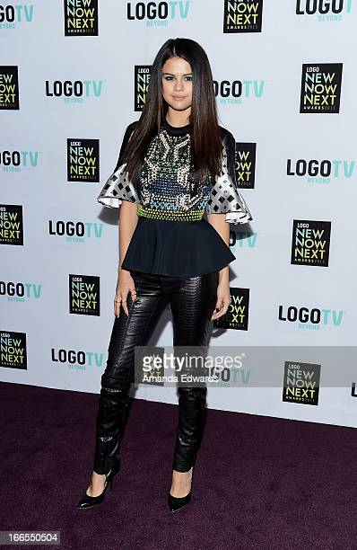 Actress/singer Selena Gomez arrives at the Logo NewNowNext Awards 2013 at The Fonda Theatre on April 13 2013 in Los Angeles California