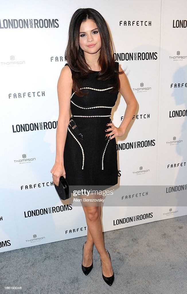 Actress/singer Selena Gomez attends the British Fashion Council's International Showcasing Initiative 'London Show Rooms LA' at Thompson Hotel on April 9, 2013 in Beverly Hills, California.