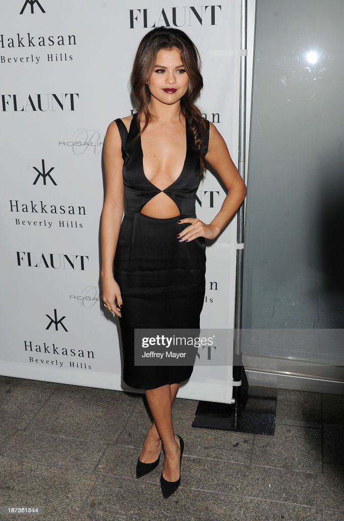 Actress/singer Selena Gomez attends the Flaunt Magazine Issue Party with Selena Gomez And Amanda De Cadenet held at Hakkasan Beverly Hills on November 7, 2013 in Beverly Hills, California.