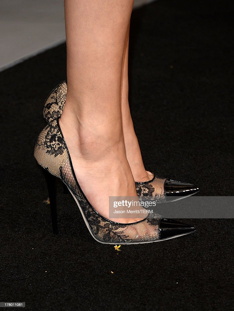 Actress/singer Selena Gomez (shoe detail) attends the premiere of 'Getaway' presented by Warner Bros. Pictures at Regency Village Theatre on August 26, 2013 in Westwood, California.