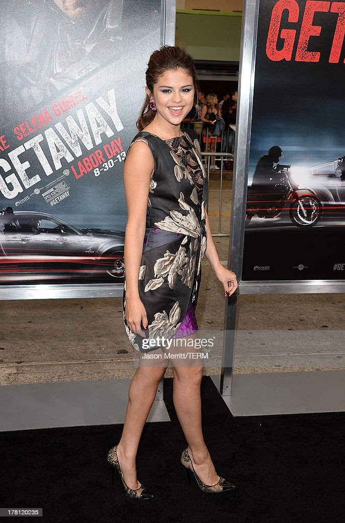 Actress/singer Selena Gomez attends the premiere of 'Getaway' presented by Warner Bros. Pictures at Regency Village Theatre on August 26, 2013 in Westwood, California.