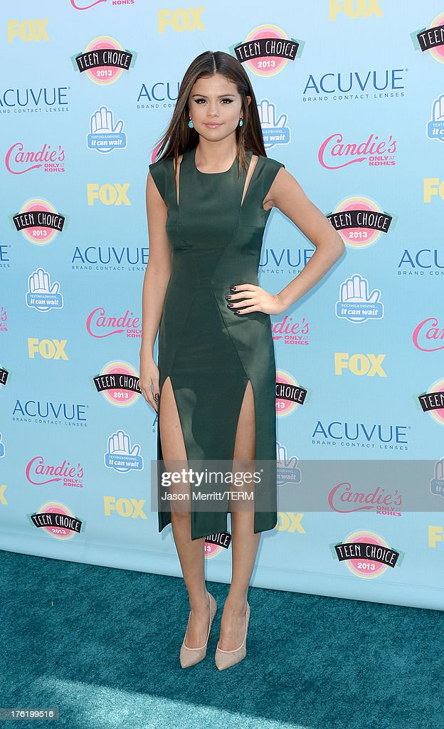 Actresssinger Selena Gomez attends the Teen Choice Awards 2013 at Gibson Amphitheatre on August 11 2013 in Universal City California
