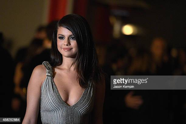 Actresssinger Selena Gomez wearing Gucci attends the 2014 LACMA Art Film Gala honoring Barbara Kruger and Quentin Tarantino presented by Gucci at...